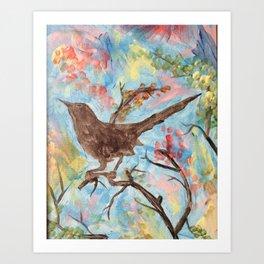 Mocking Bird Art Print