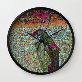 Abstract Penguin Wall Clock