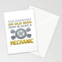 Old Man - A Mechanic Stationery Cards