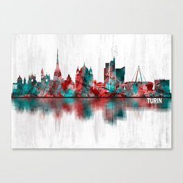 Turin Italy Skyline Canvas Print