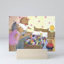 Goldilocks Caught Sleeping Mini Art Print