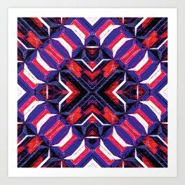 Curitiba (Garnet Stripes) Art Print
