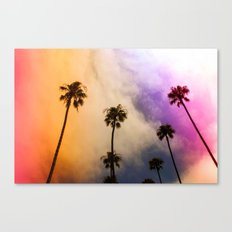 candy puffy clouds Canvas Print