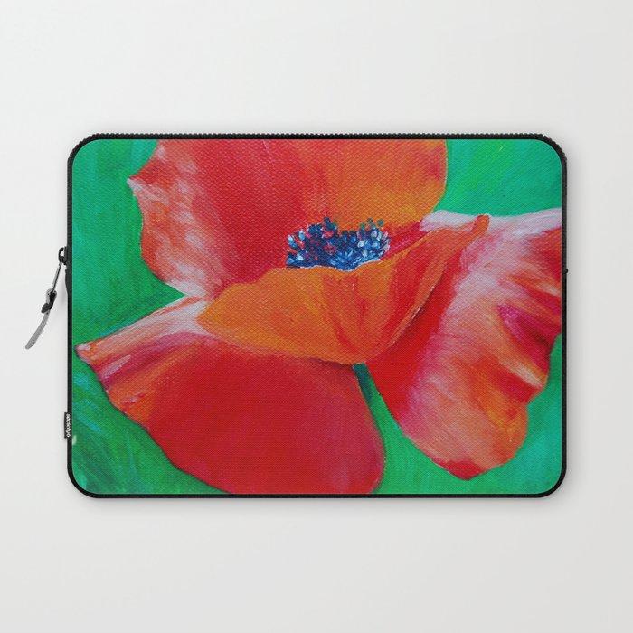 Single Poppy Laptop Sleeve