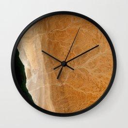 Ripples on Namibia Wall Clock