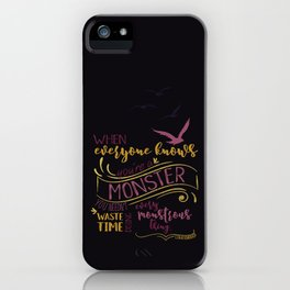 Every Monstrous Thing - Dark iPhone Case