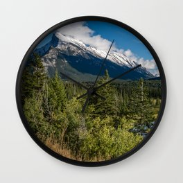 View of Mount Rundle Wall Clock