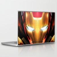 iron man Laptop & iPad Skins featuring IRON MAN IRON MAN by Smart Friend