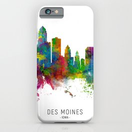 Des Moines Iowa Skyline iPhone Case