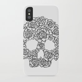 Skull of Roses iPhone Case