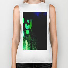 City Lights in the Rain Biker Tank