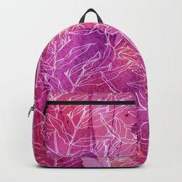 white branchs on watercolor splash Backpack