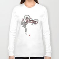 pee wee Long Sleeve T-shirts featuring Pee Wee Herman #3 by Christian G. Marra