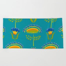 Beautiful decorative Flowers Beach Towel