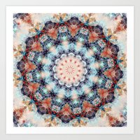 kaleidoscope Art Prints featuring kaleidoscope  by North 10 Creations