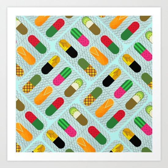 FruitPills Art Print