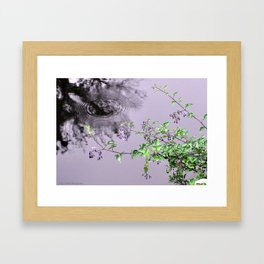 Lilac Raindrops Framed Art Print