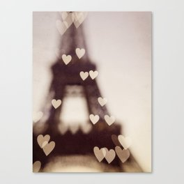 City of Love - Paris Canvas Print