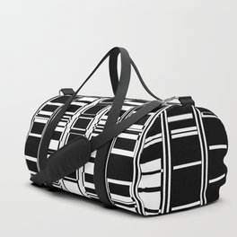 Bar Code Black and White Abstract Design Duffle Bag