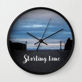 Starting Lane Wall Clock