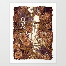 Rapunzel Mulberry Art Print