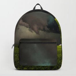 May Thunderstorm - Twisting Storm Over House in Colorado Backpack