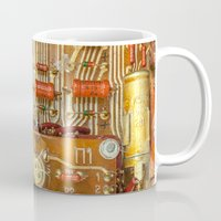 transistor Mugs featuring Electronic circuit board by beerlogoff