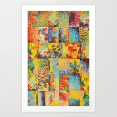 COLORFUL INDECISION 1 - Bold Bright Beautiful Abstract Acrylic Painting Collection Nature Rainbow Art Print