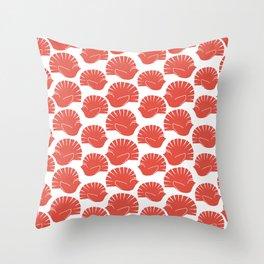 Block Cut Retro NZ Fantail Pattern Throw Pillow