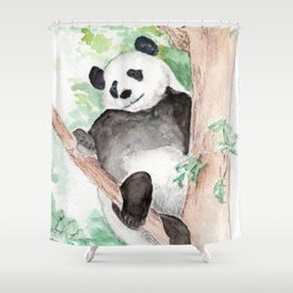 Panda, Hanging Out Shower Curtain