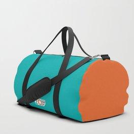 2C - teal and orange Duffle Bag
