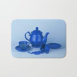 Blue tea party madness - still life Bath Mat