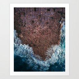 Salt Ponds in Gozo island Art Print