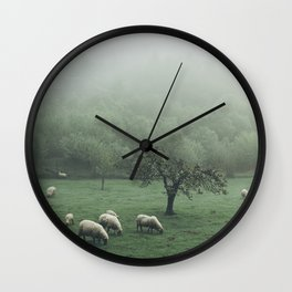 Sheeps - vert Wall Clock