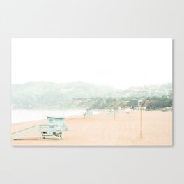 Travel photography Santa Monica II Canvas Print