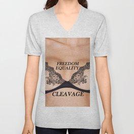 freedom equality cleavage Unisex V-Neck