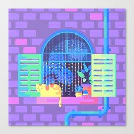 Windowsill Basking Canvas Print