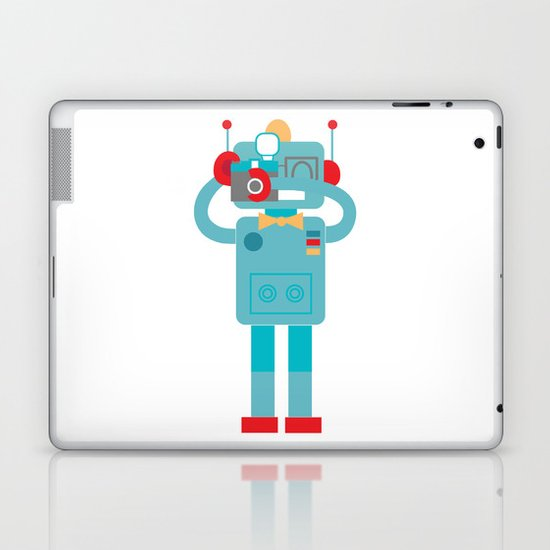 Robot loves Diana Laptop & iPad Skin