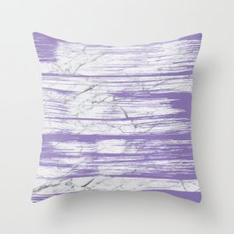 Modern abstract violet watercolor brushstrokes marble pattern Throw Pillow