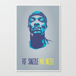 Snoop Dogg Poster Art Canvas Print