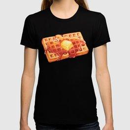 Waffle Pattern - Blue T-shirt