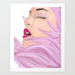 She feels like a unicorn Art Print