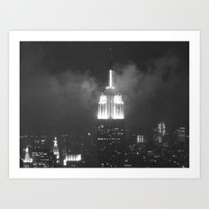 Gotham city in black and white Art Print