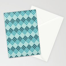 Indie Spice: Turquoise Cross Hatch Stationery Cards