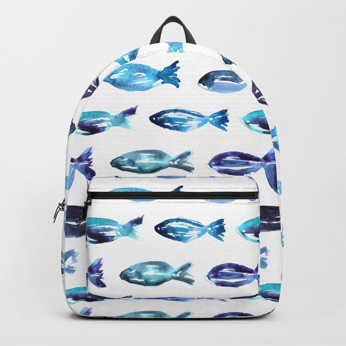 Sardines swimming to Sardegna Backpack