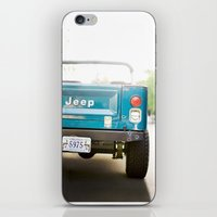 jeep iPhone & iPod Skins featuring Jeep Scrambler Summer by Leslee Mitchell