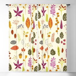 Fall Autumn Nature Forest Bits Blackout Curtain