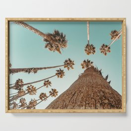 {1 of 2} Hug a Palm Tree // Tropical Summer Teal Blue Sky Serving Tray