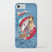 jaws iPhone & iPod Cases featuring Jaws  by Christopher Chouinard