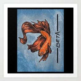 BetaFish Art Print